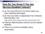 how do you know if you are service disabled veteran
