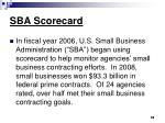 sba scorecard
