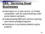sba servicing small businesses14