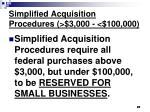 simplified acquisition procedures 3 000 100 000