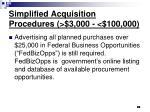 simplified acquisition procedures 3 000 100 00069
