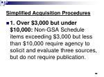 simplified acquisition procedures