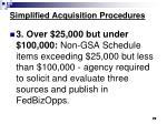 simplified acquisition procedures72