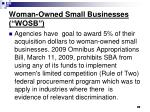 woman owned small businesses wosb
