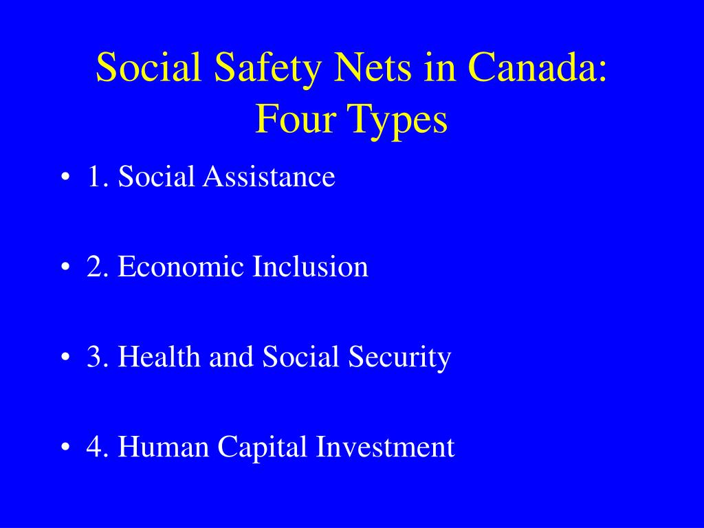 Social Safety Nets in Canada: Four Types