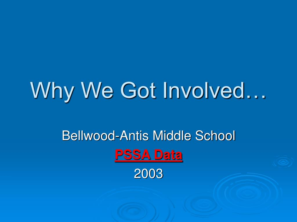 Why We Got Involved…