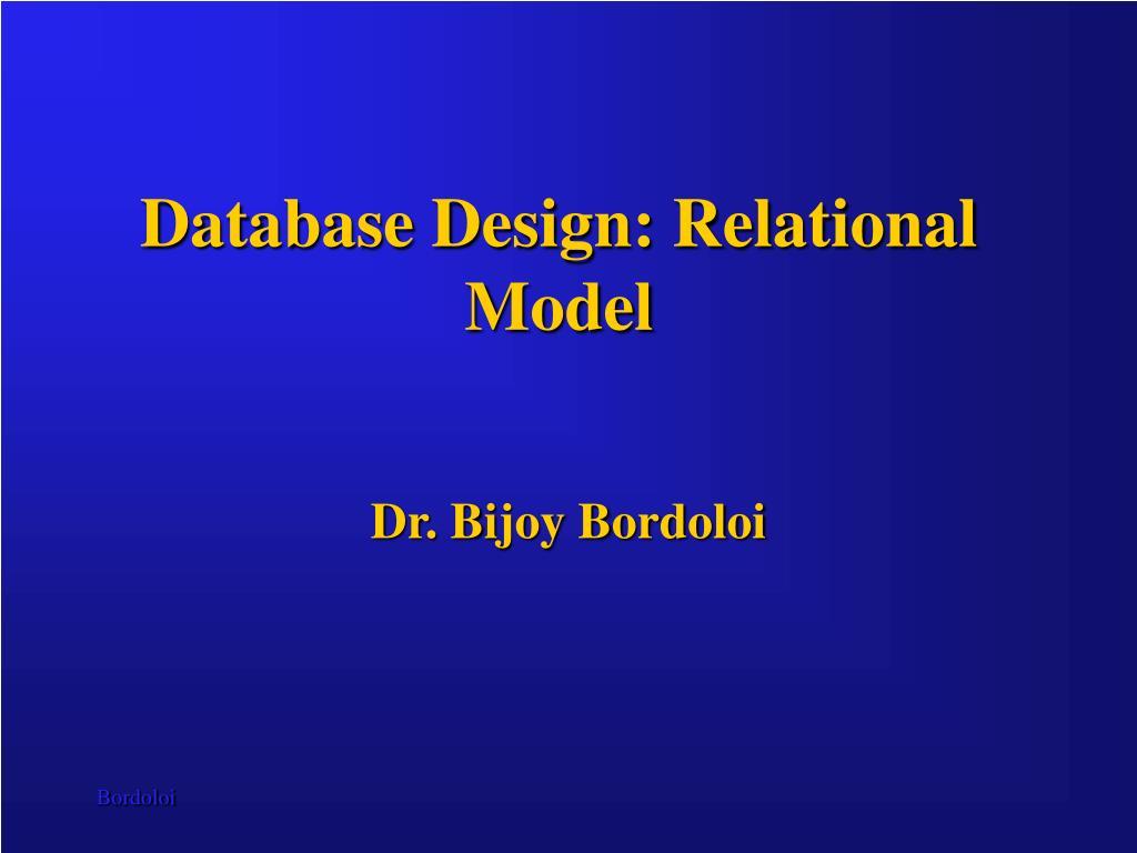 Database Design: Relational Model
