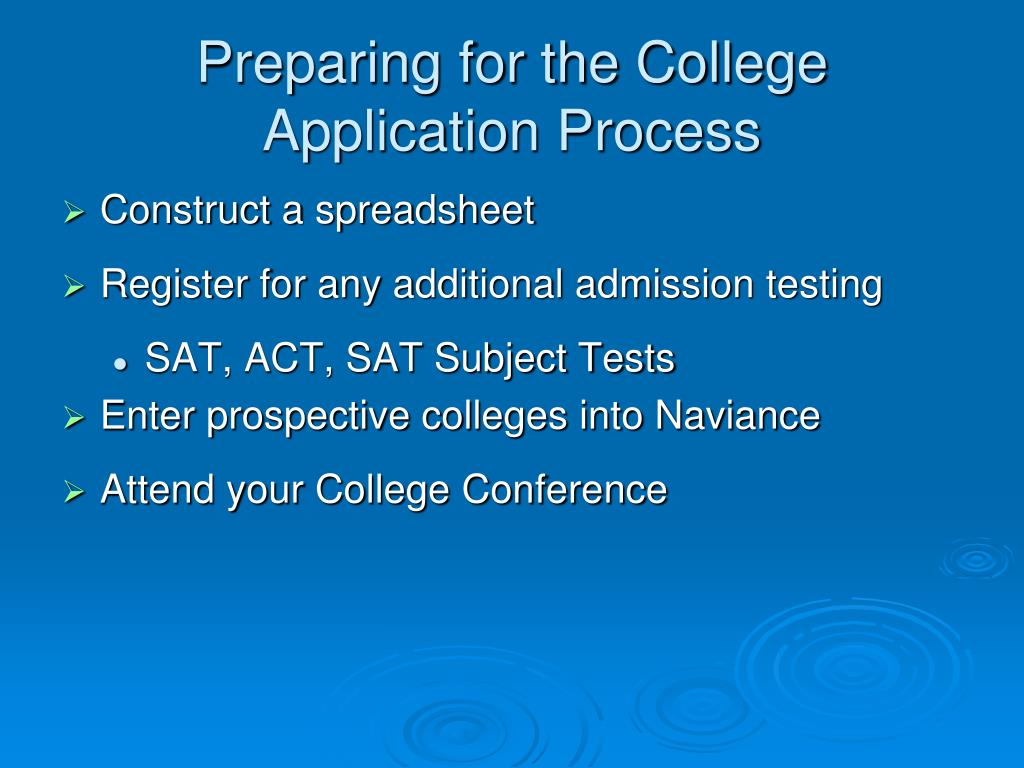 Preparing for the College Application Process