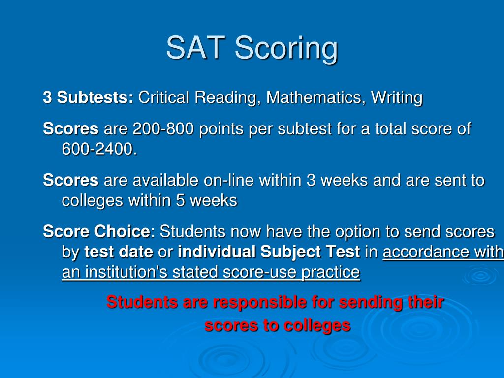 SAT Scoring