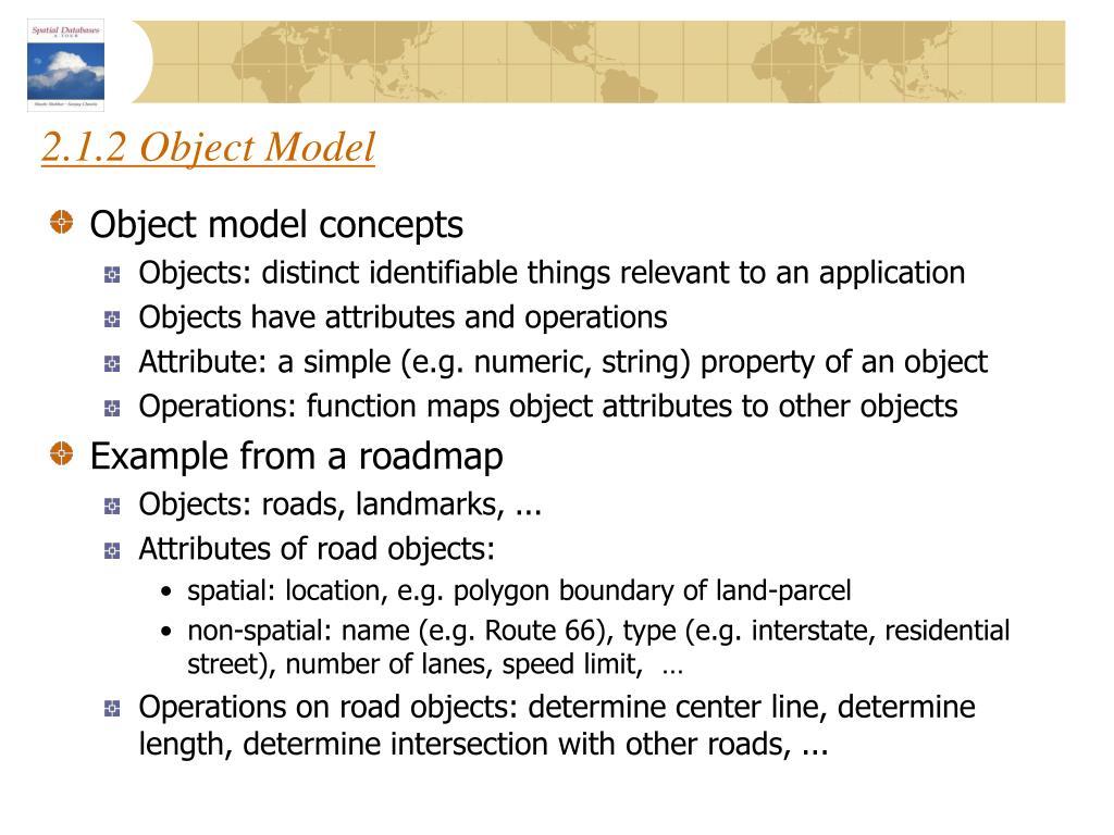2.1.2 Object Model