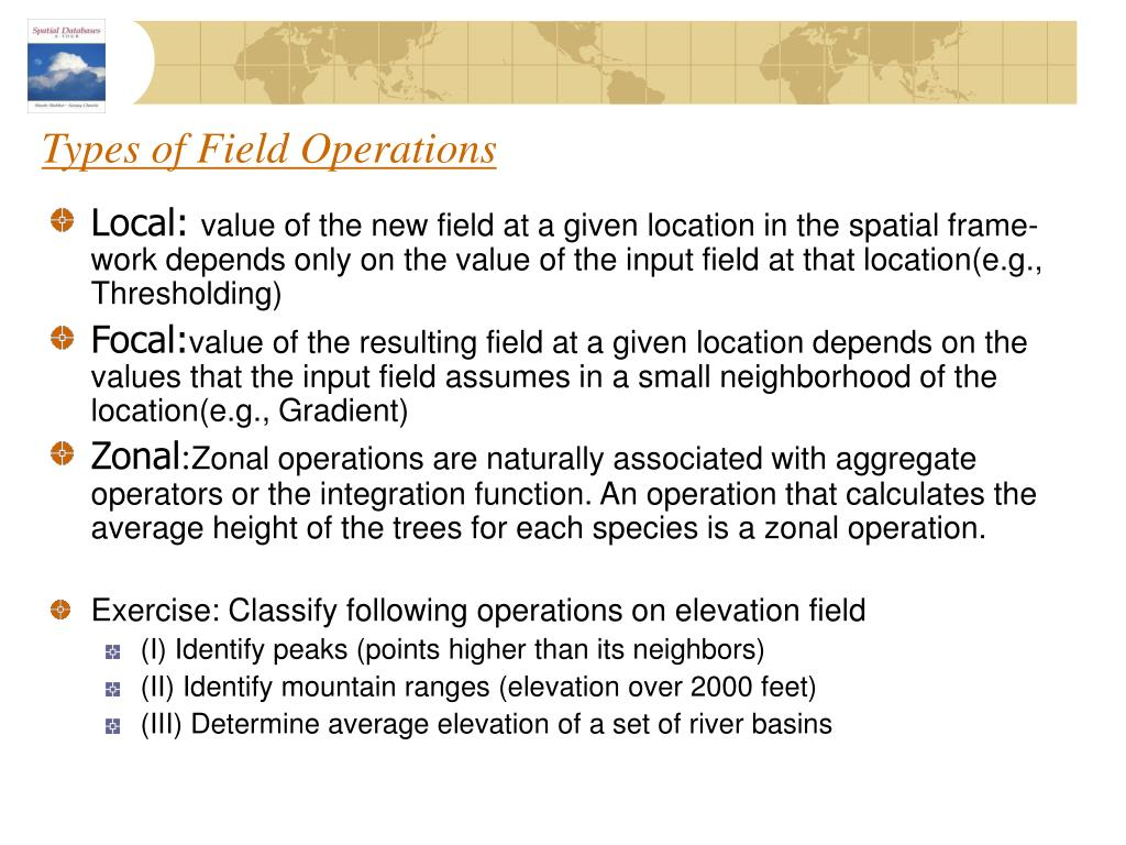 Types of Field Operations