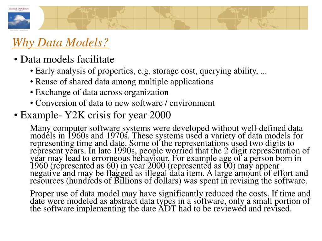 Why Data Models?