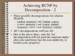 achieving bcnf by decomposition 2