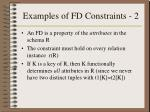 examples of fd constraints 2
