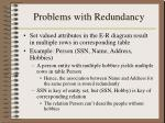 problems with redundancy5