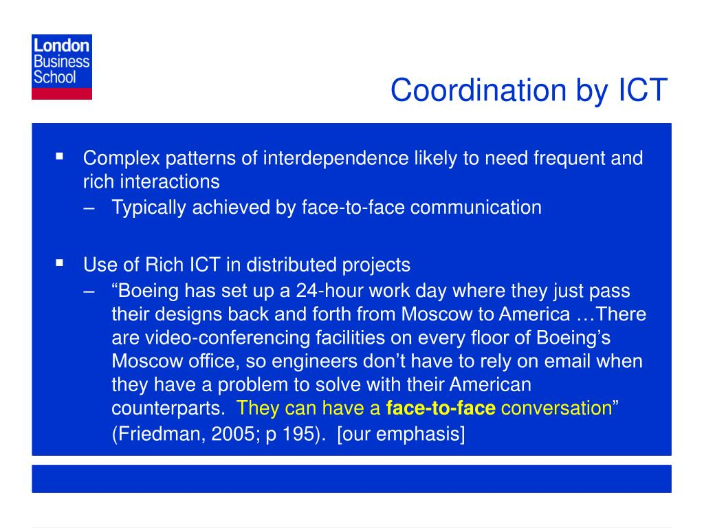 Coordination by ICT