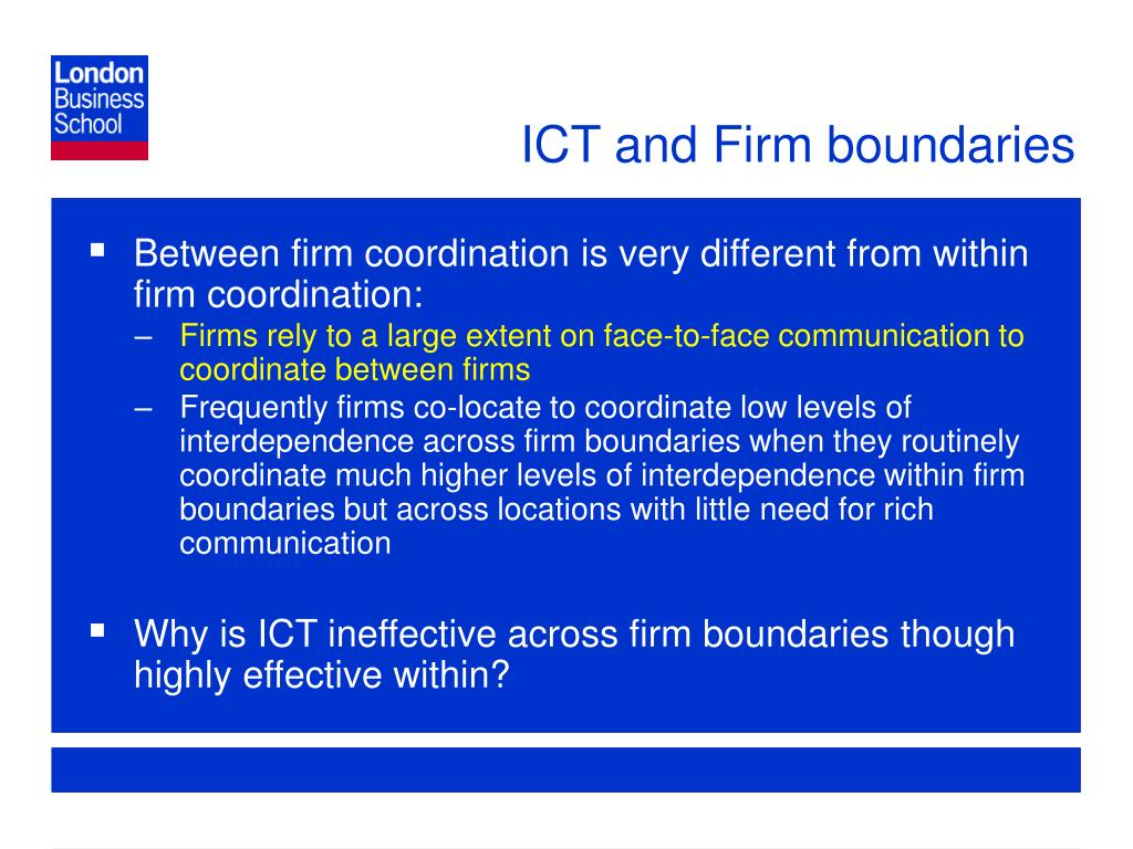 ICT and Firm boundaries