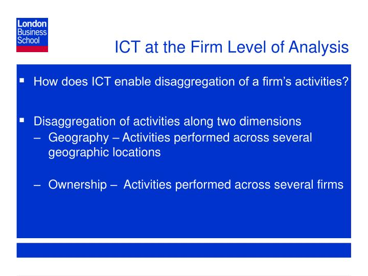 Ict at the firm level of analysis
