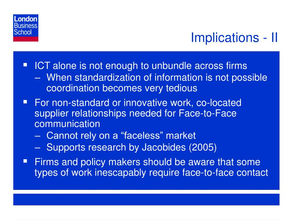 Implications - II
