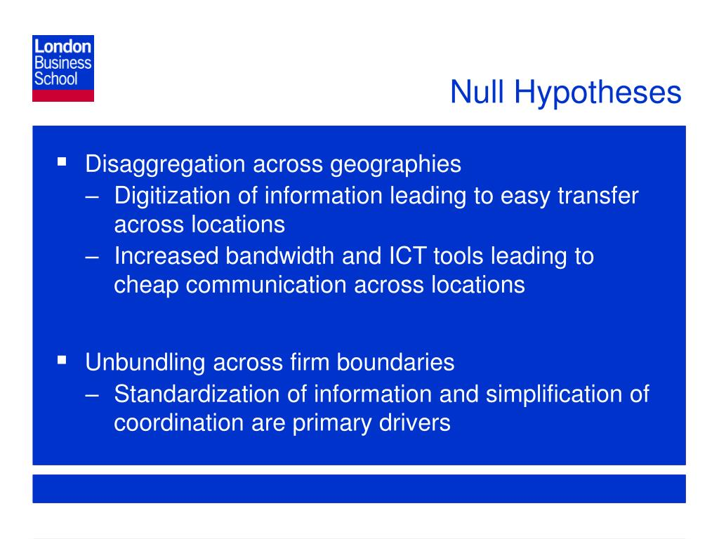 Null Hypotheses