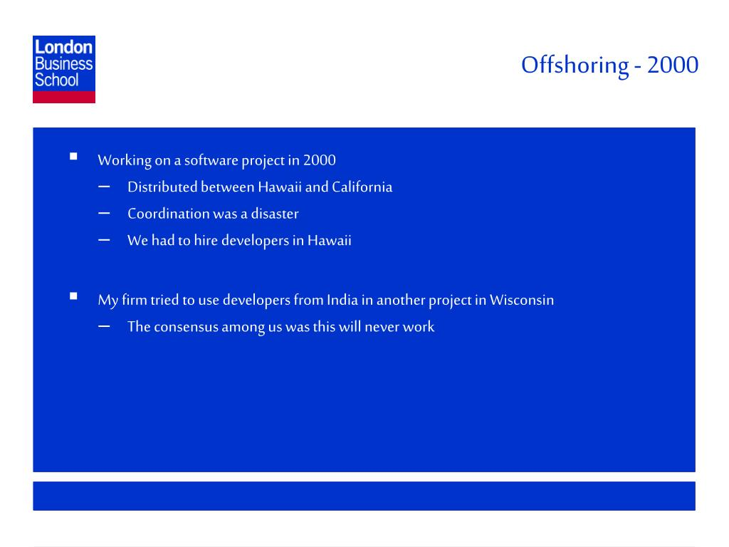 Offshoring - 2000