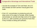 comparative advantage and international trade17