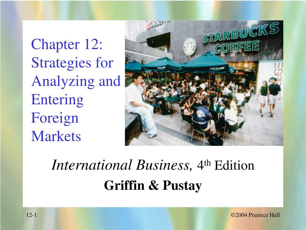 strategies for entering foreign markets There are a variety of ways in which a company can enter a foreign market no one market entry strategy works for all international markets direct exporting may be the most appropriate strategy in one market while in another you may need to set up a joint venture and in another you may well license your manufacturing.