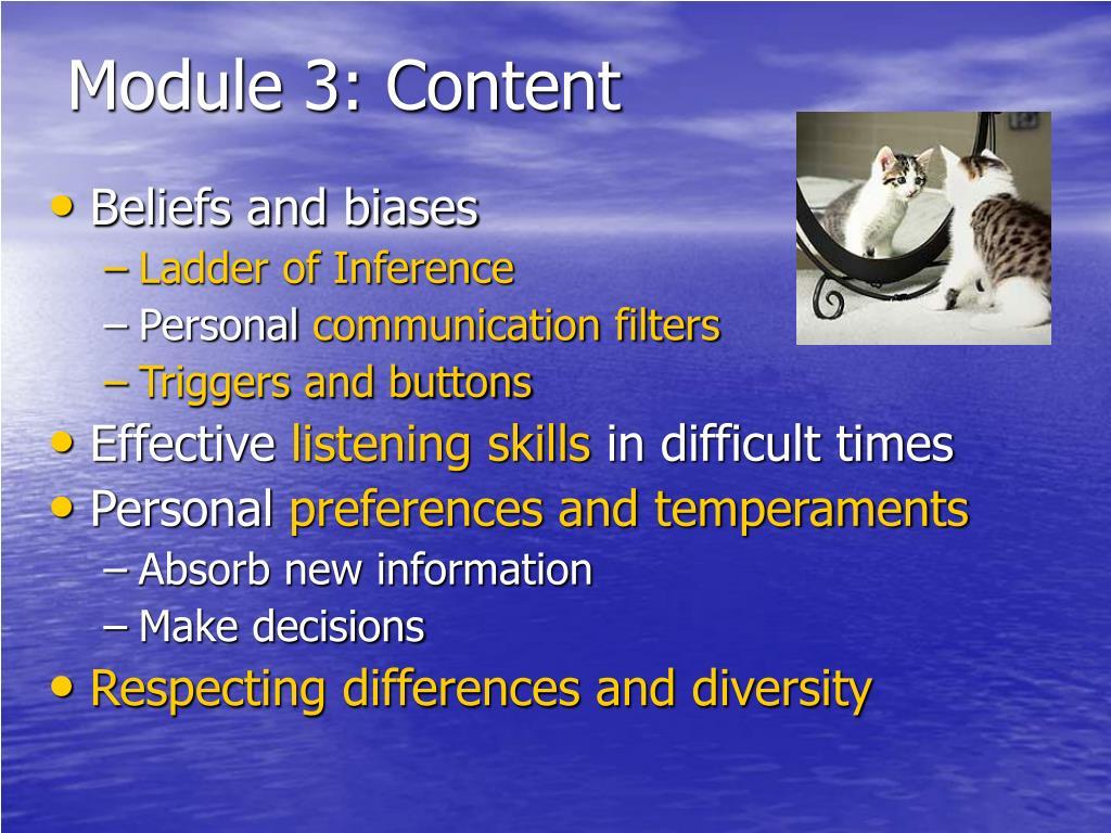 Module 3: Content