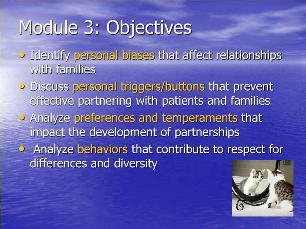 Module 3: Objectives