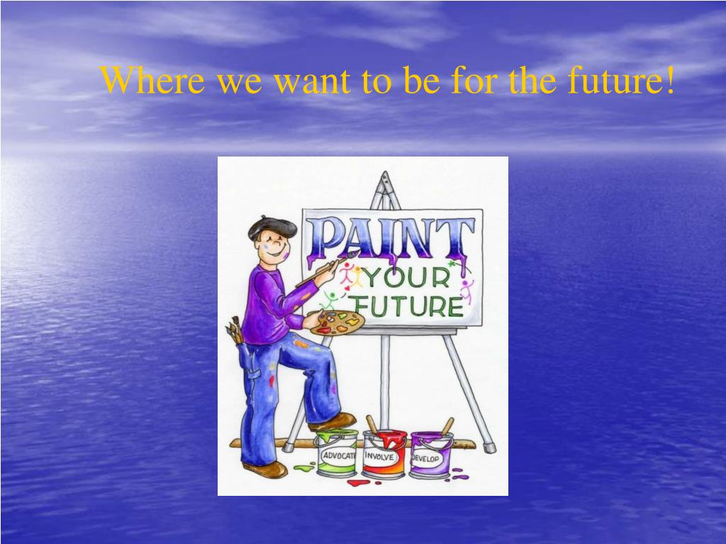 Where we want to be for the future!