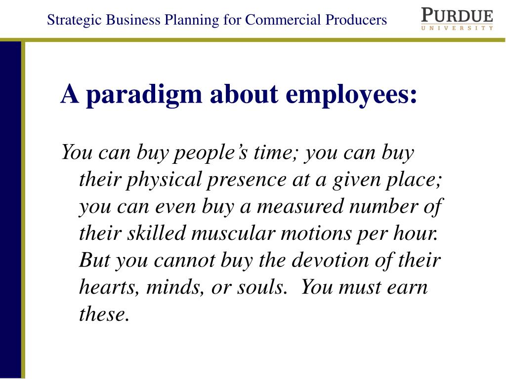 A paradigm about employees: