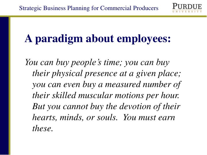 A paradigm about employees