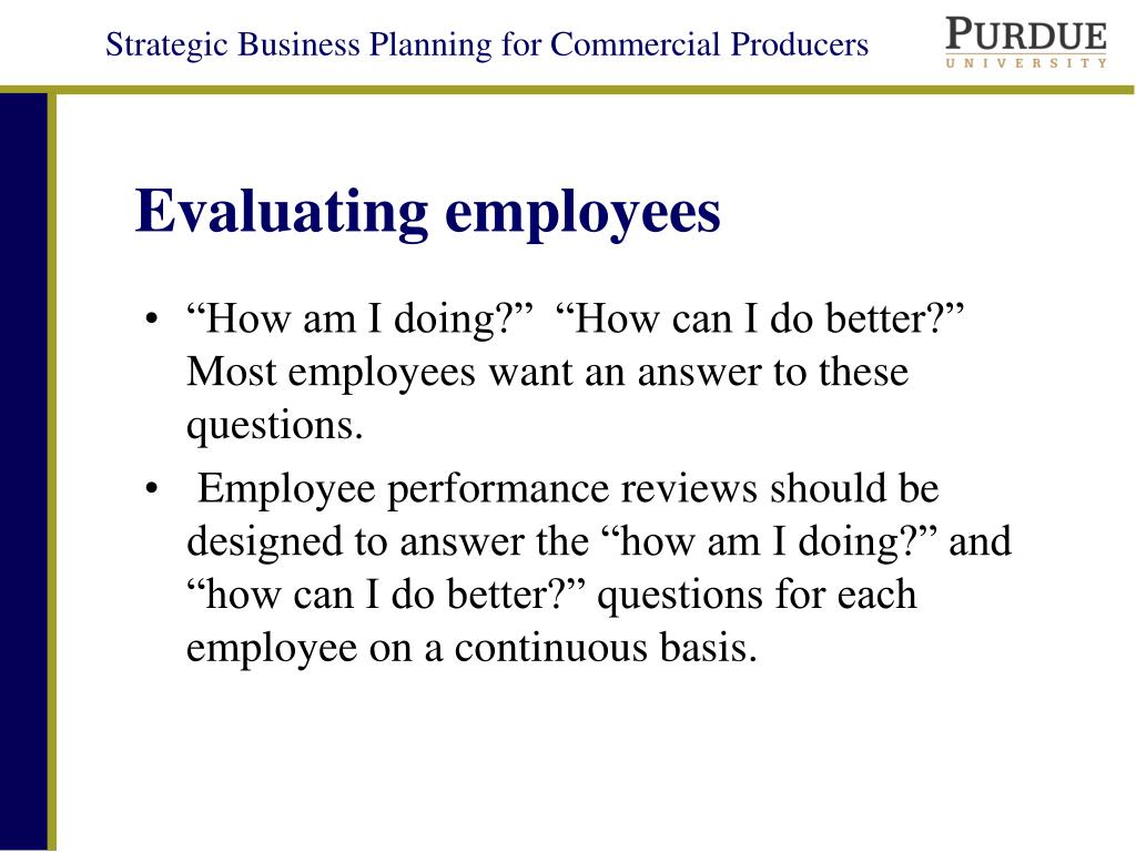 Evaluating employees