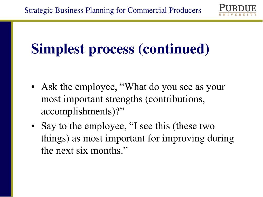 Simplest process (continued)