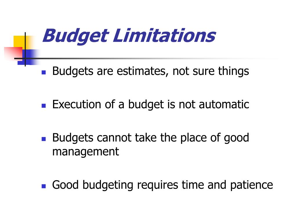 Budget Limitations