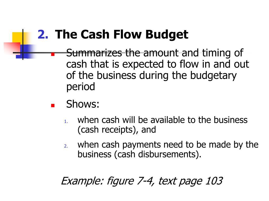 The Cash Flow Budget