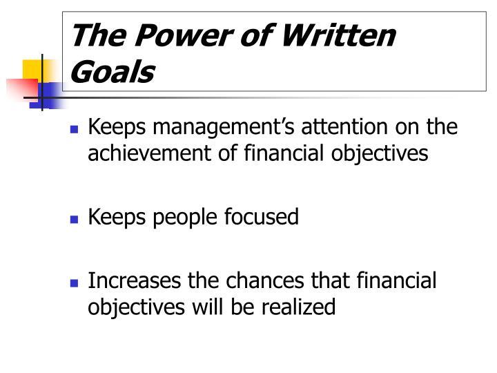 The power of written goals