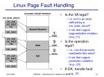 linux page fault handling