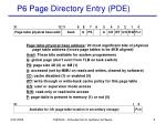 p6 page directory entry pde