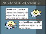 functional vs dysfunctional