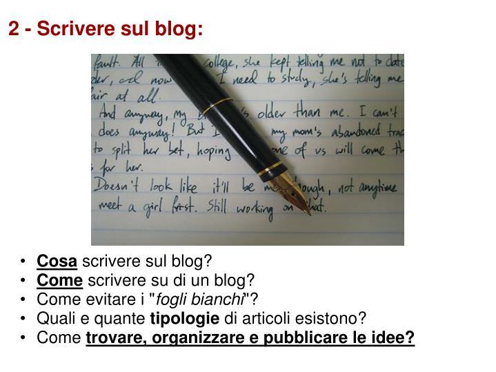 2 scrivere sul blog