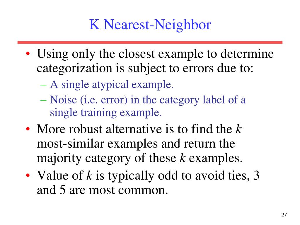 K Nearest-Neighbor