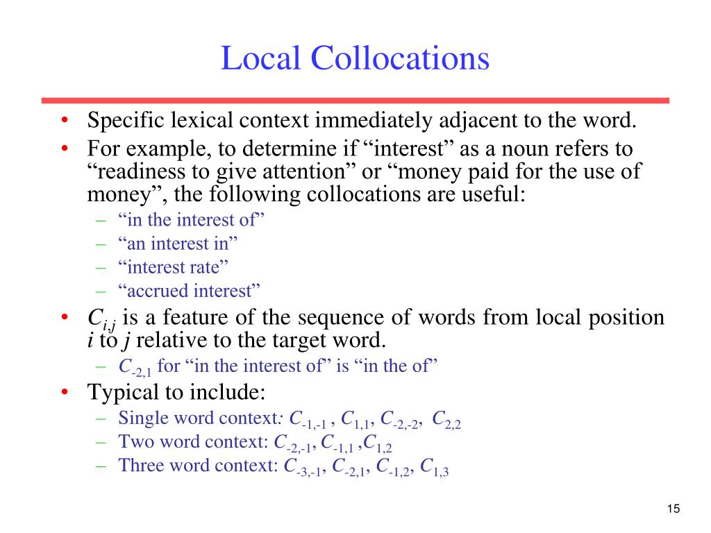 Local Collocations