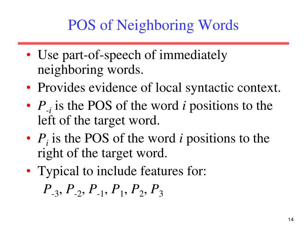 POS of Neighboring Words