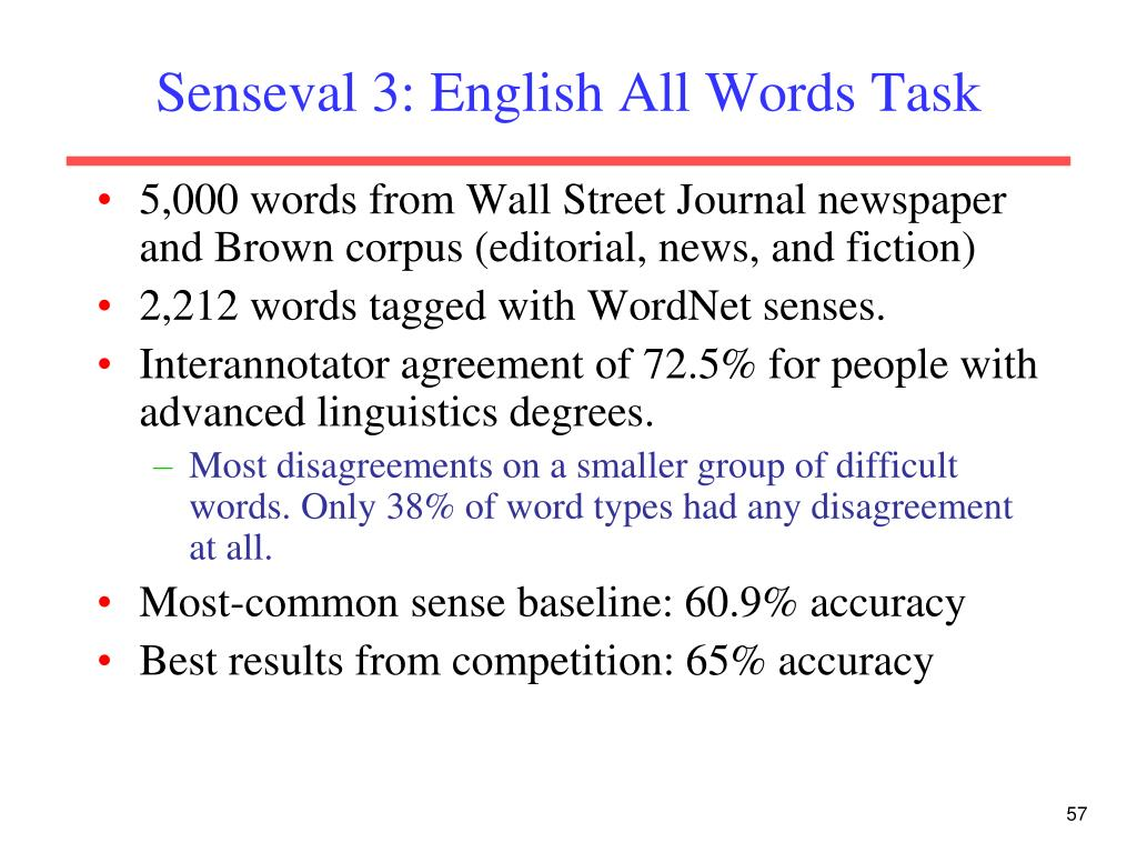 Senseval 3: English All Words Task