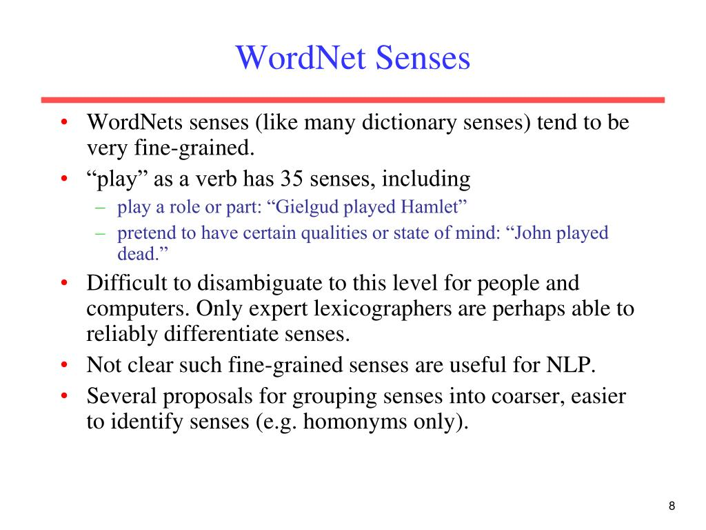 WordNet Senses