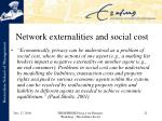 network externalities and social cost