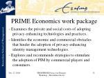 prime economics work package