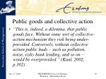 public goods and collective action