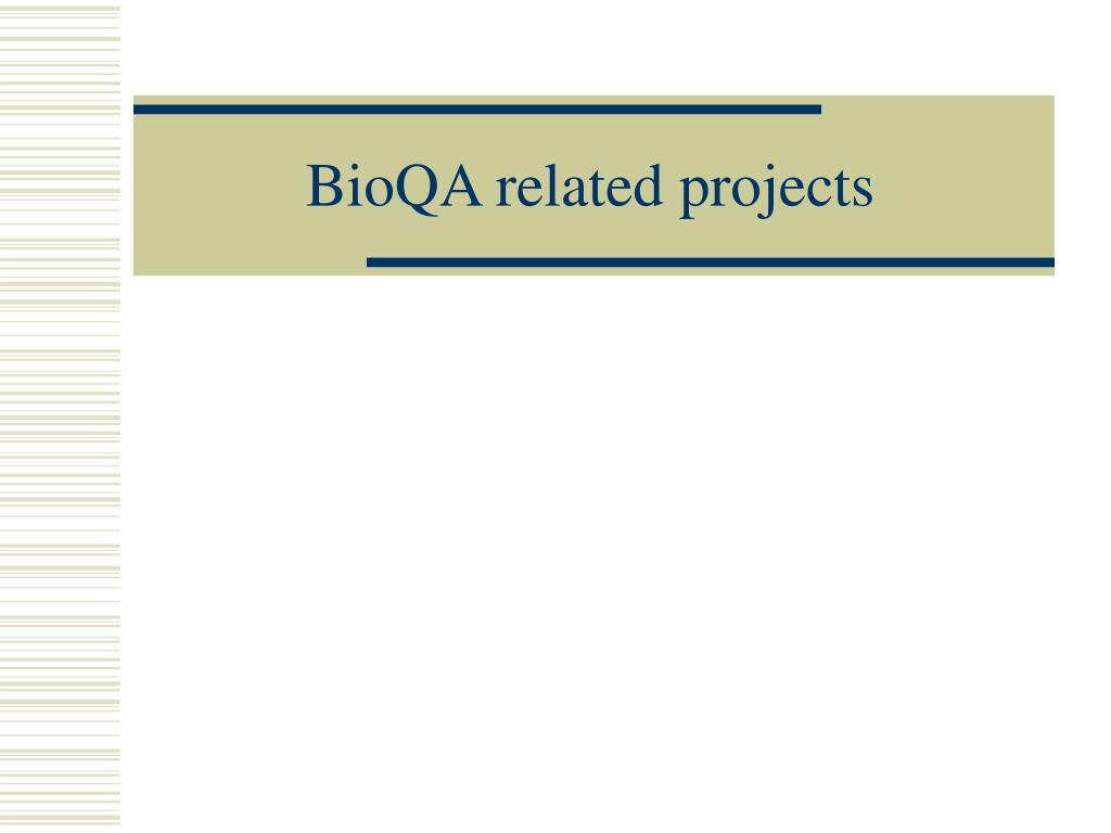 BioQA related projects